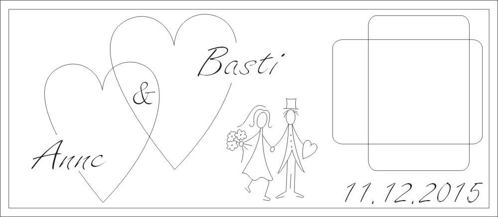 Hochzeit mit 2 große Herzen
