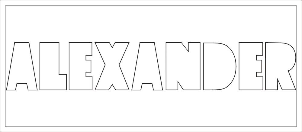 NAME bis 9 Buchstaben Höhe ca. 9 cm