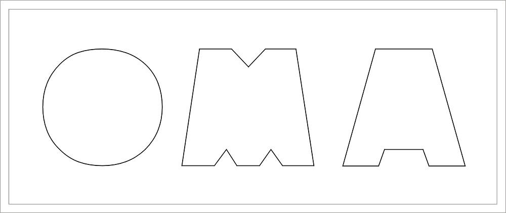 OMA Buchstaben-Höhe ca. 14 cm