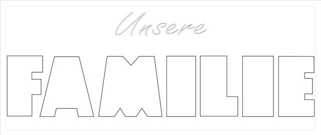 FAMILIE Buchstaben-Höhe ca.11 cm mit Überschrift