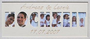 Hochzeit & Liebe 60x25 cm