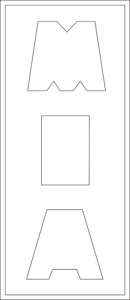 Lang Bild 3 Buchstaben ca. 14 cm