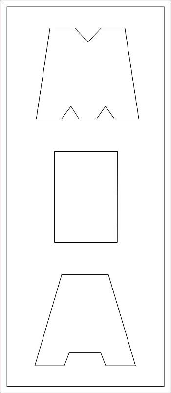 3 Buchstaben-Höhe ca. 14 cm Lang