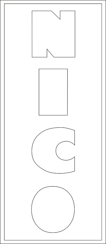 Lang Bild 4 Buchstaben ca. 11 cm
