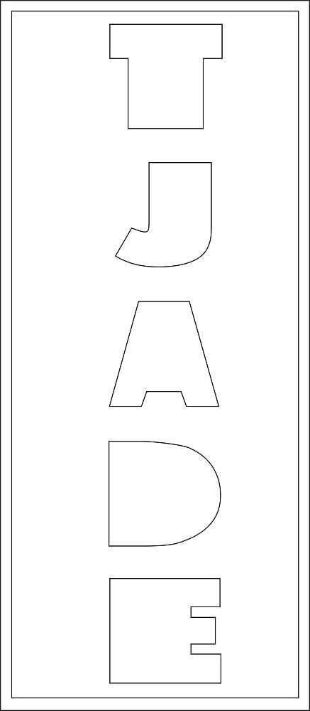 Lang Bild 5 Buchstaben ca. 9 cm