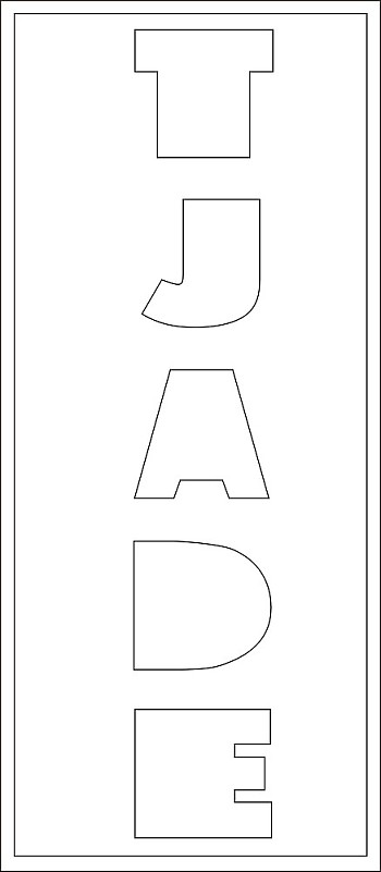 5 Buchstaben-Höhe ca. 9 cm Lang