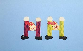 Clownbuchstabe H