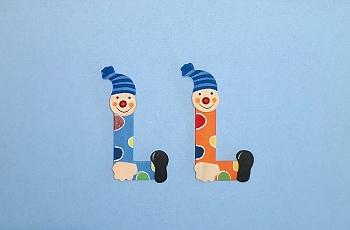 Clownbuchstabe L