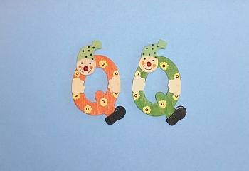 Clownbuchstabe Q