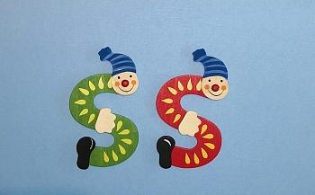 Clownbuchstabe S