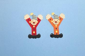 Clownbuchstabe Y