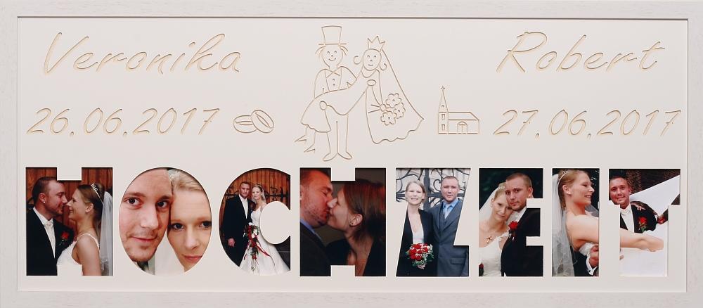 Hochzeit mit Kirche oder Herzen