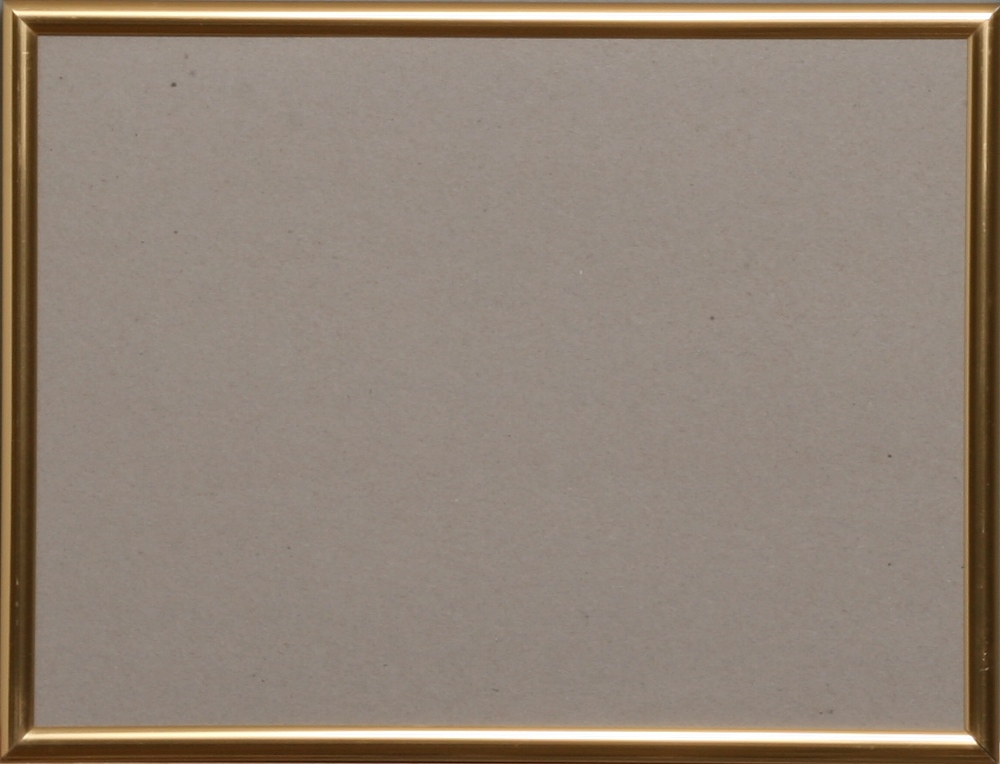 Kunststoff-Wechselrahmen 18x24 cm Messing