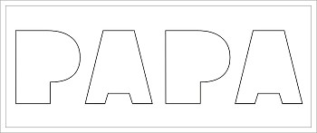 PAPA Buchstaben-Höhe ca. 14 cm