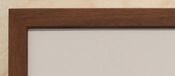 Holz-Rahmen Esche dunkel natur 60 cm x 25 cm.