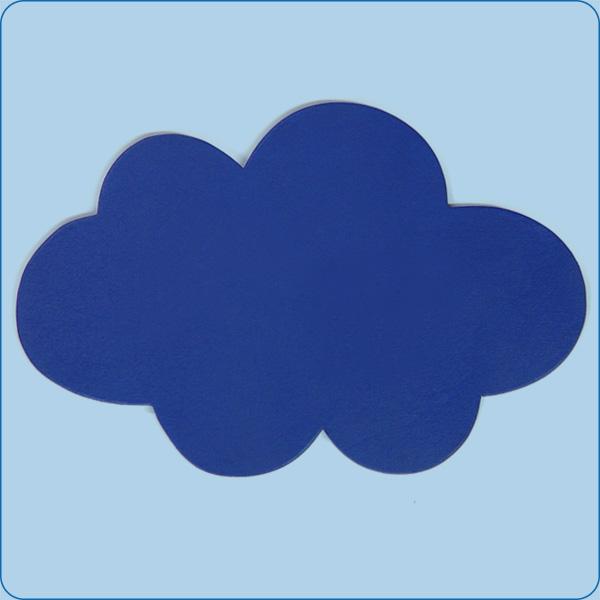Großes Wolken-Türschild ohne Beschriftung