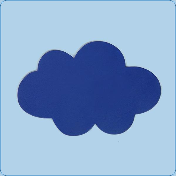 kleines Wolken-Türschild ohne Beschriftung