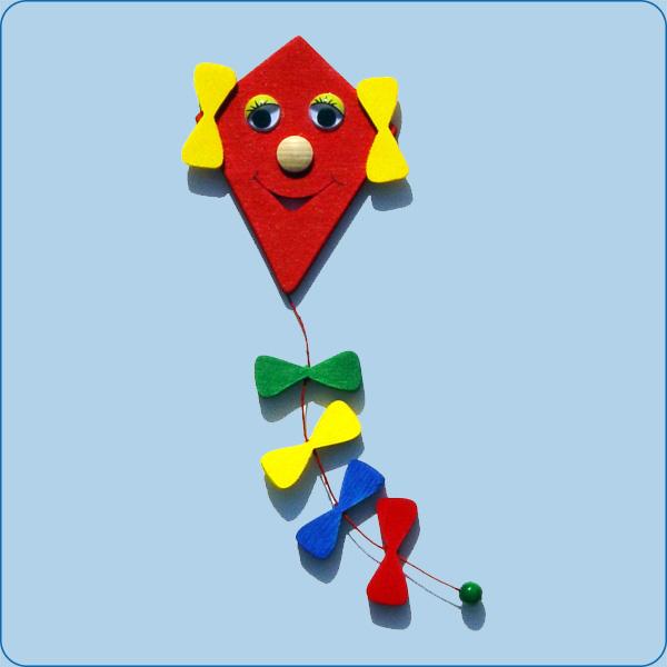 Windvogel (Drachen) rot