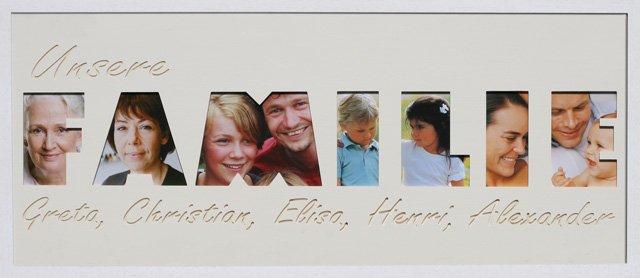 Familie 1 Zeile mit Namen