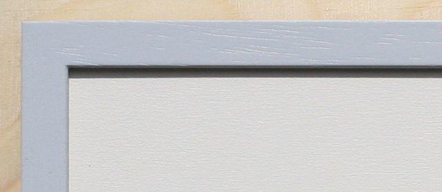 Holz-Rahmen Lichtgrau lackiert