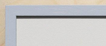 Holz-Rahmen Lichtgrau lackiert 60 cm x 25 cm.