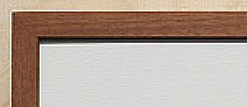 Holz-Rahmen klein Mahagoni natur 18 cm x 24 cm