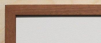 Holz-Rahmen Mahagoni natur 60 cm x 25 cm.